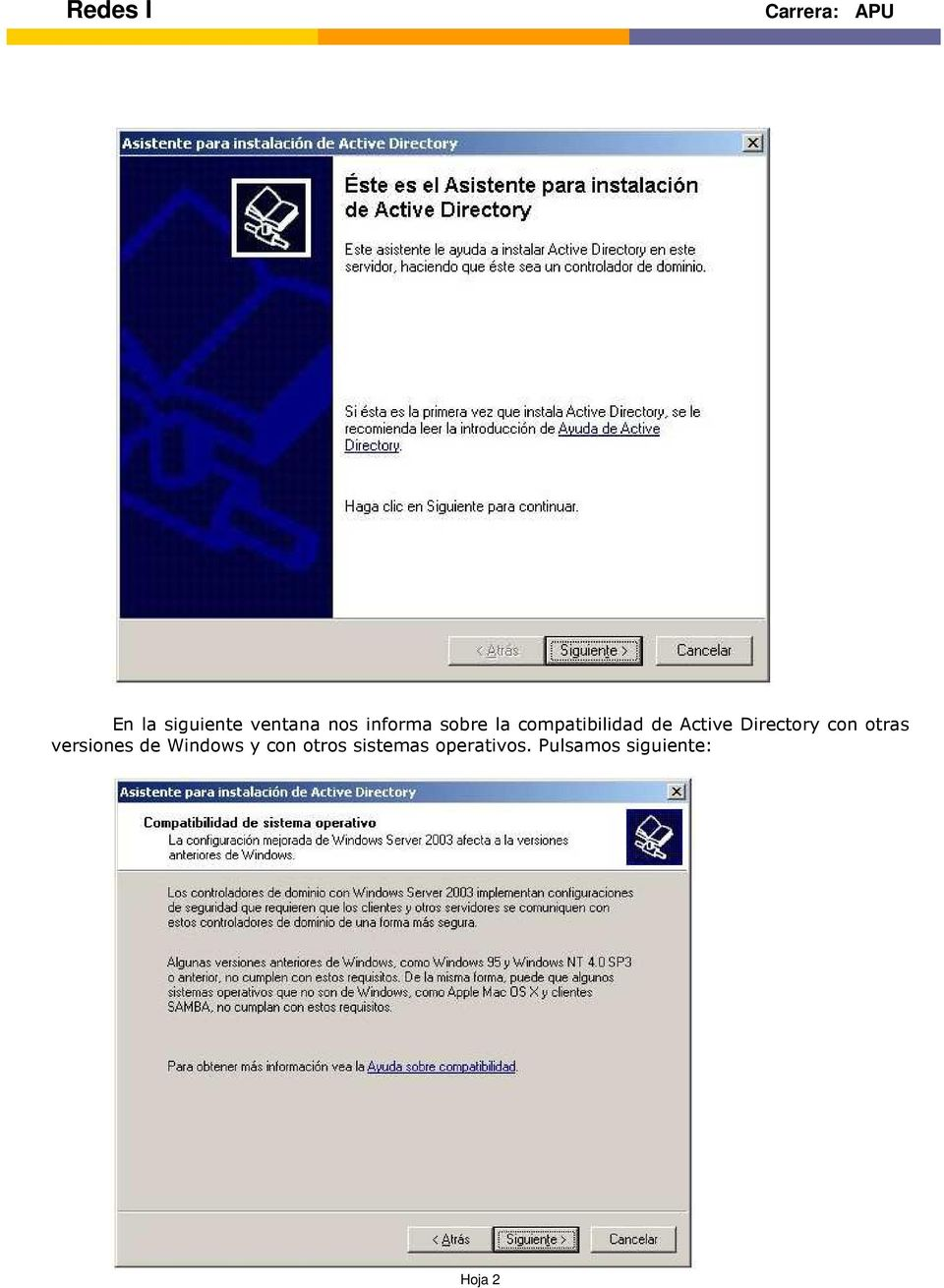 Directory con otras versiones de Windows