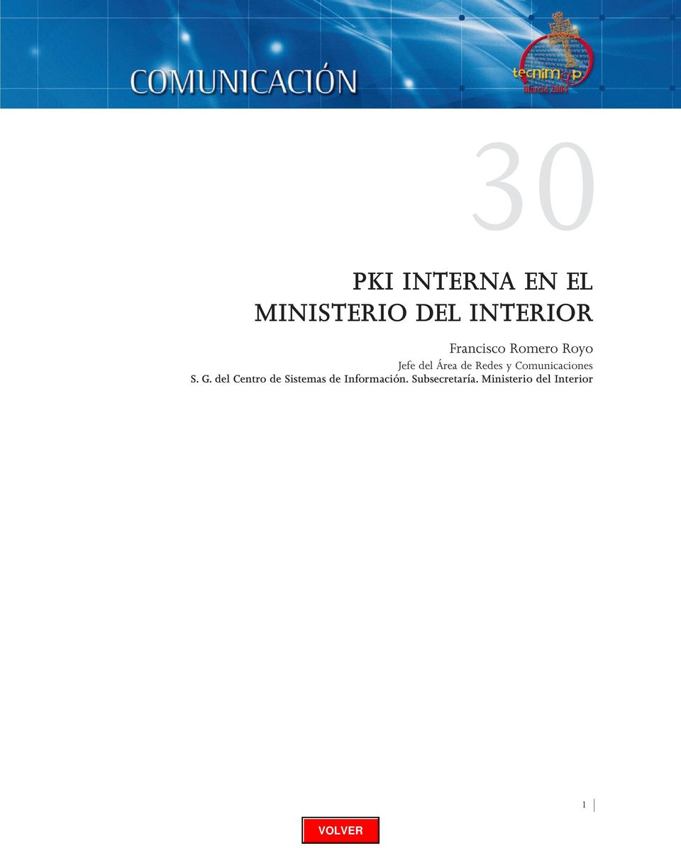 Pki interna en el ministerio del interior pdf for Ministerio del interior bs as