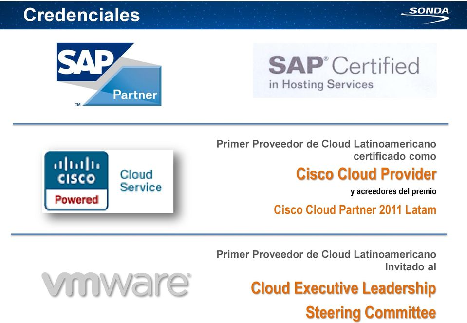 Cisco Cloud Partner 2011 Latam Primer Proveedor de Cloud