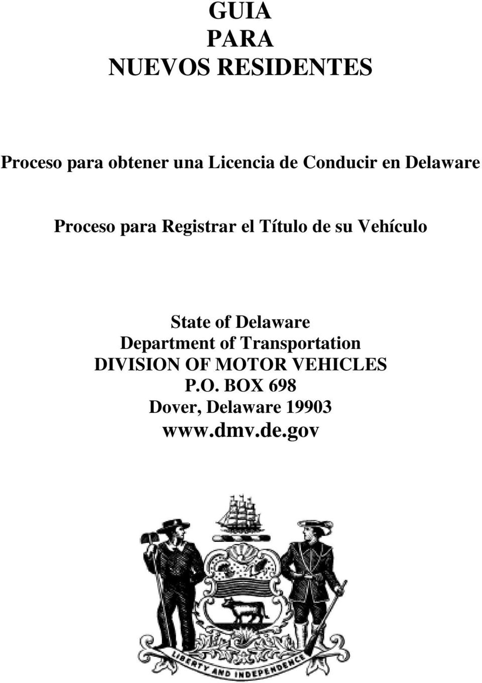Vehículo State of Delaware Department of Transportation DIVISION