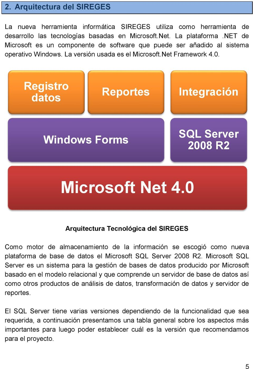 Registro datos Reportes Integración Windows Forms SQL Server 2008 R2 Microsoft Net 4.