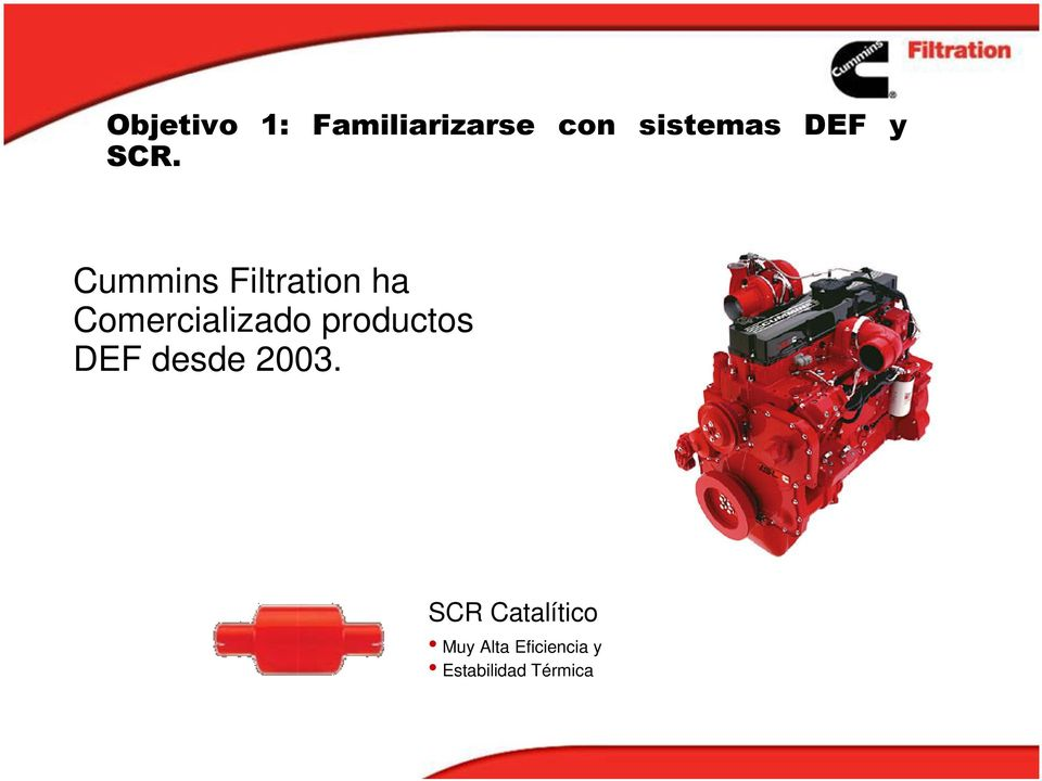 Cummins Filtration ha Comercializado