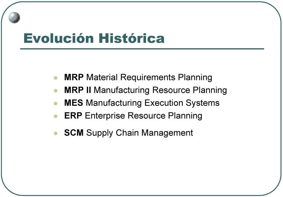 MES Manufacturing Execution Systems ERP