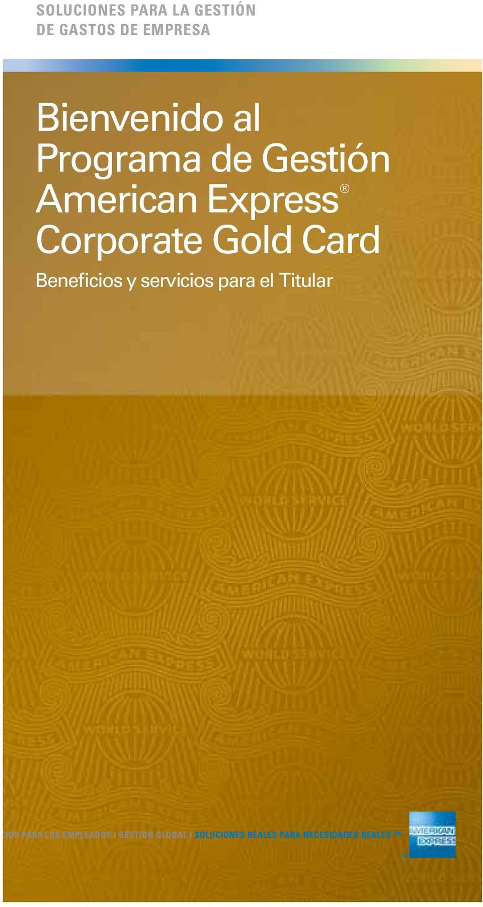 Gestión American Express Corporate Gold
