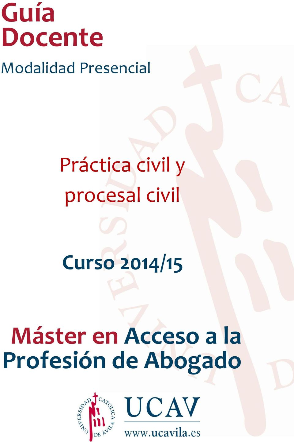 procesal civil Curso 2014/15