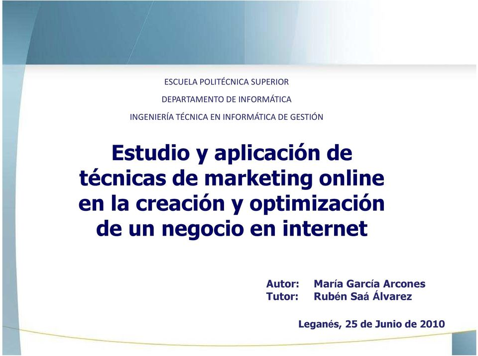 marketing online en la creación y optimización de un negocio en internet