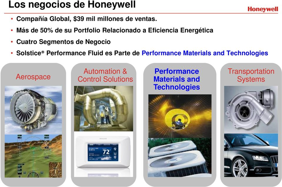 Negocio Solstice Performance Fluid es Parte de Performance Materials and Technologies