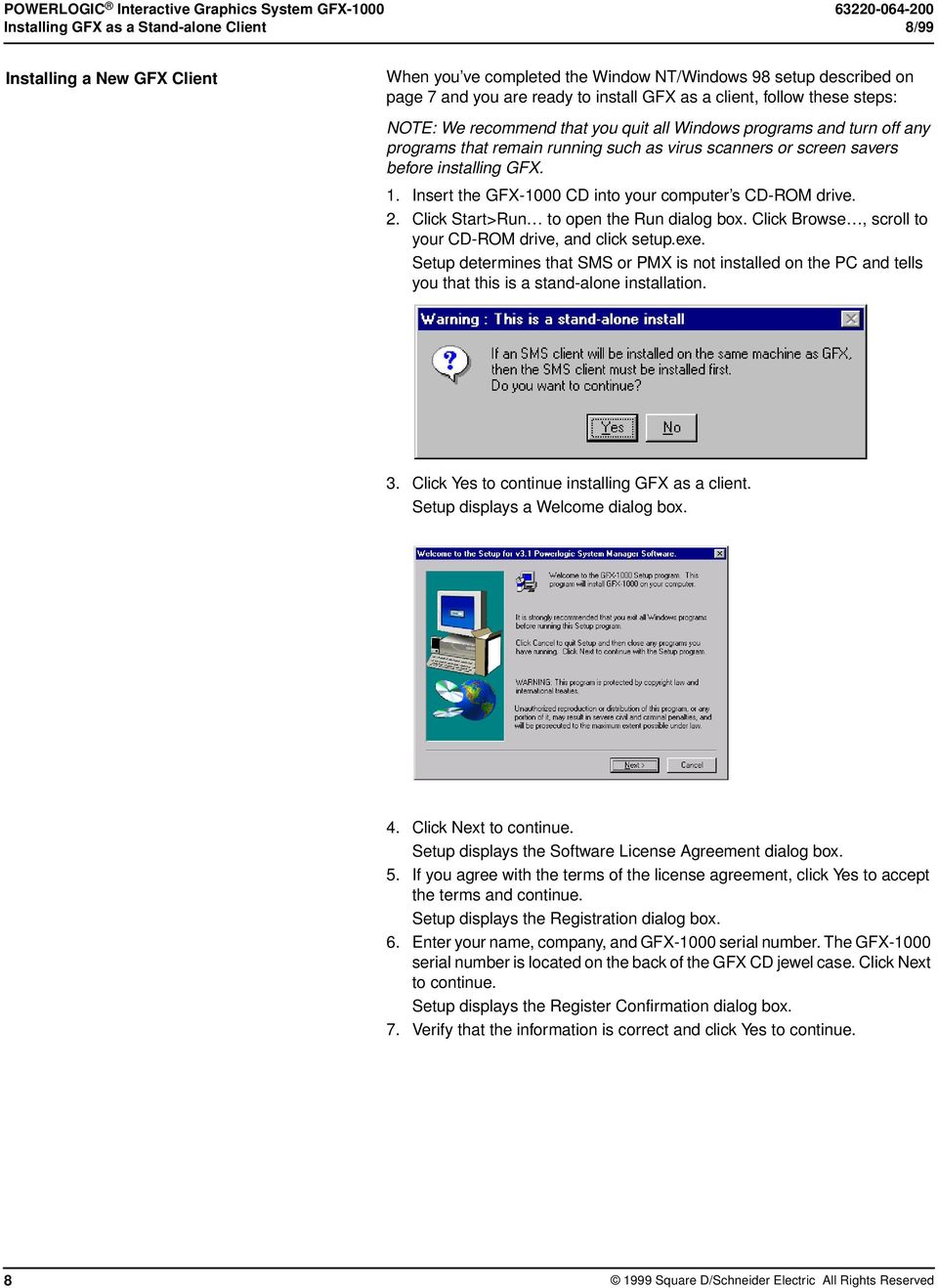 screen savers before installing GFX. 1. Insert the GFX-1000 CD into your computer s CD-ROM drive. 2. Click Start>Run to open the Run dialog box.
