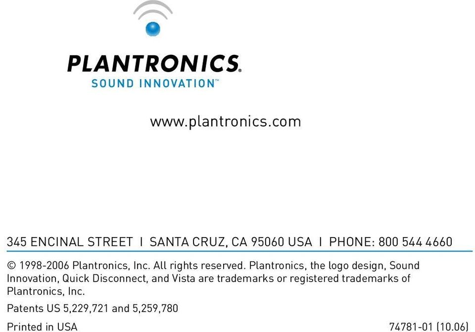 Plantronics, Inc. All rights reserved.