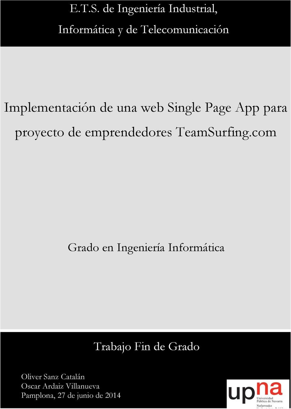 Implementación de una web Single Page App para proyecto de