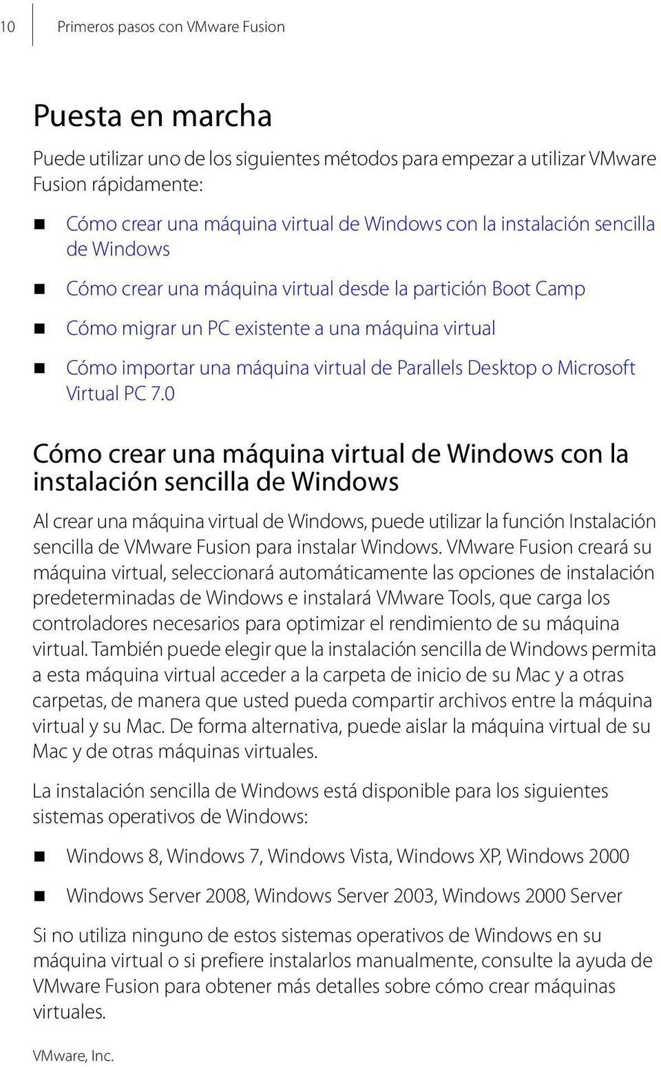 Microsoft Virtual PC 7.