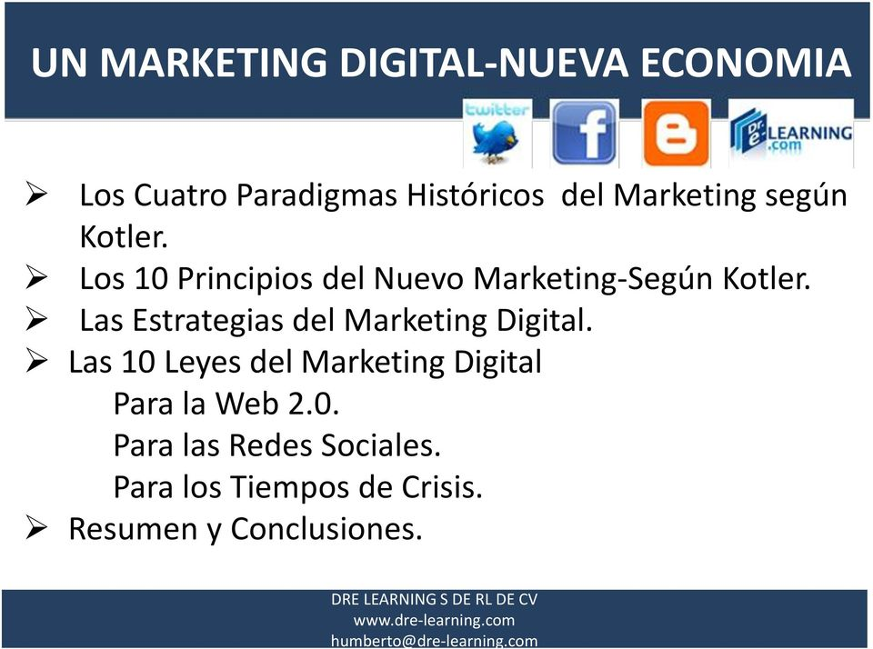 Las Estrategias del Marketing Digital.