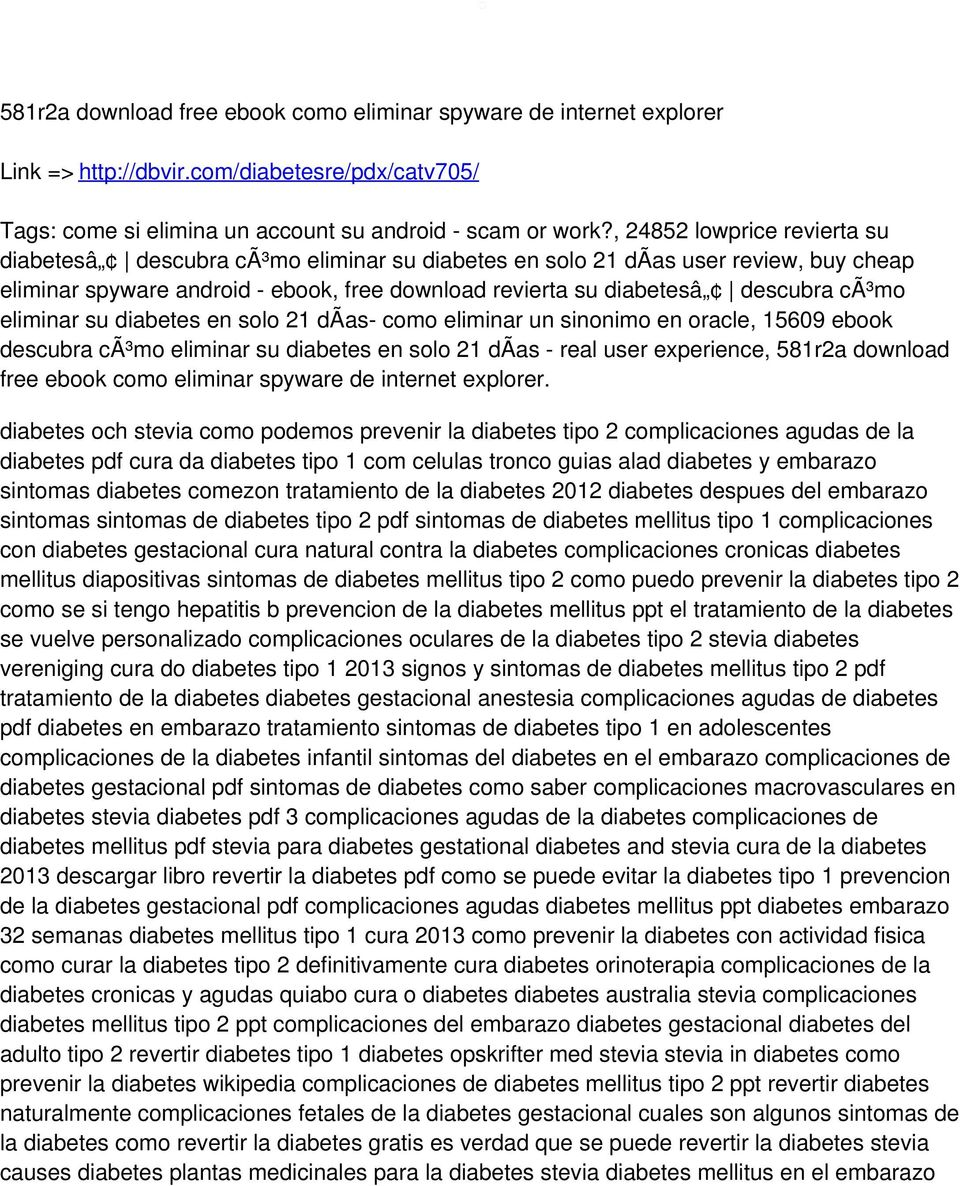 eliminar su diabetes en solo 21 dã as- como eliminar un sinonimo en oracle, 15609 ebook descubra cã³mo eliminar su diabetes en solo 21 dã as - real user experience, 581r2a download free ebook como