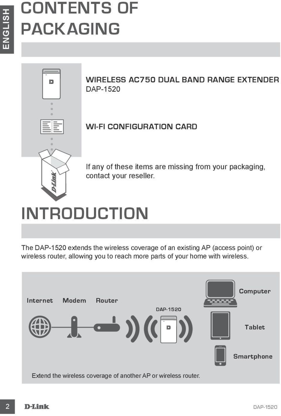 INTRODUCTION The extends the wireless coverage of an existing AP (access point) or wireless router, allowing