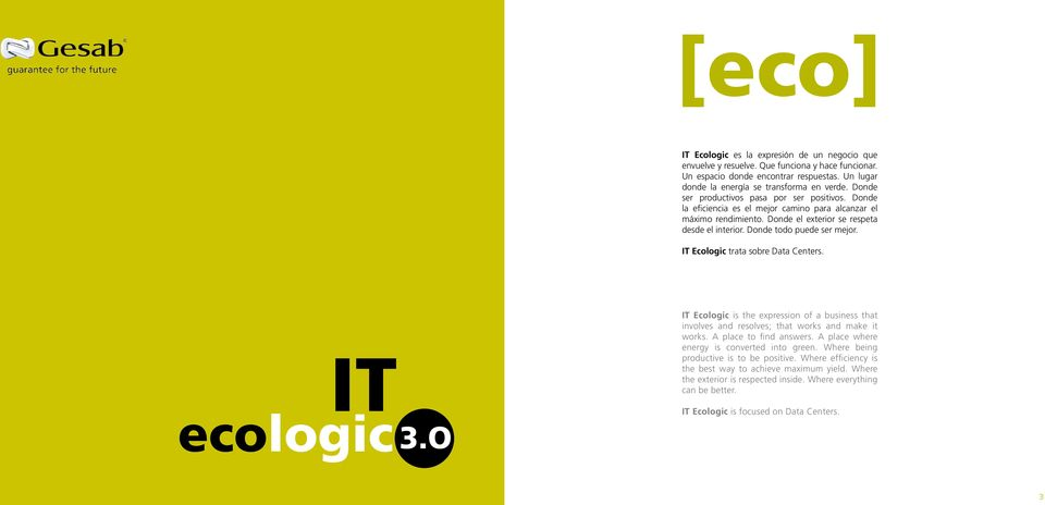 IT Ecologic trata sobre Data Centers. IT ecologic 3.