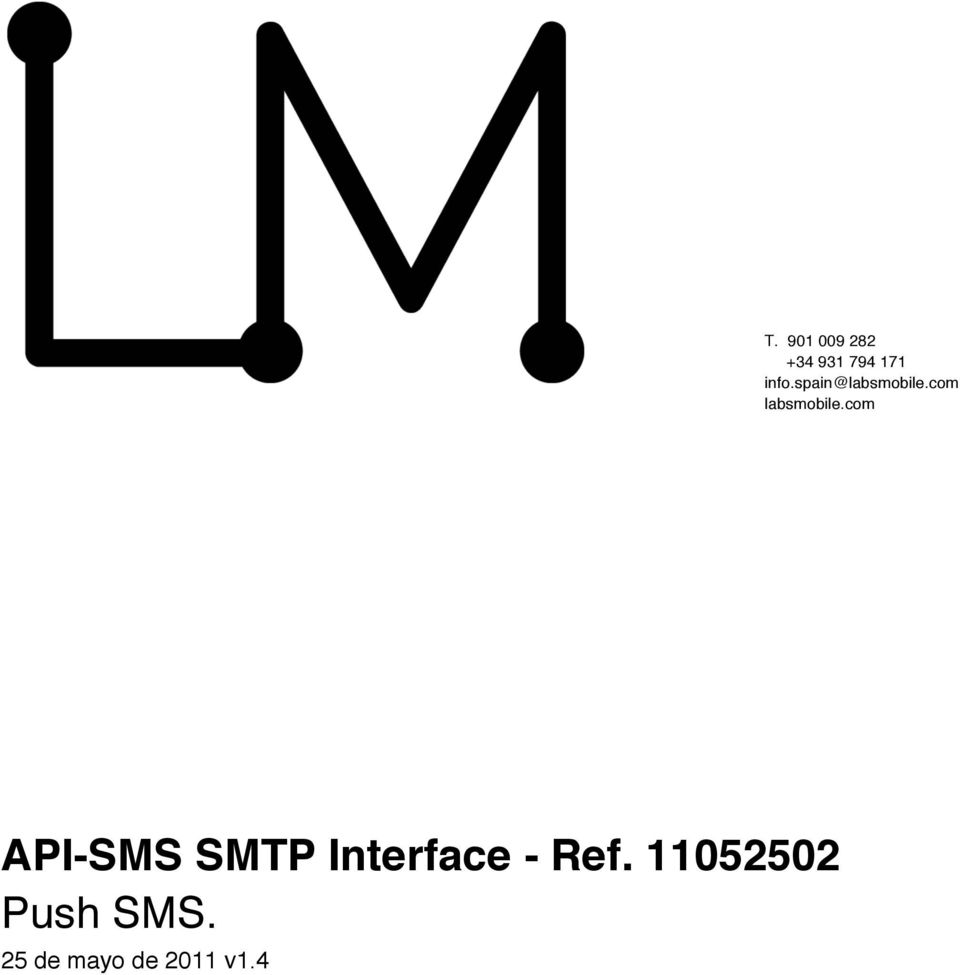 com API-SMS SMTP Interface - Ref.
