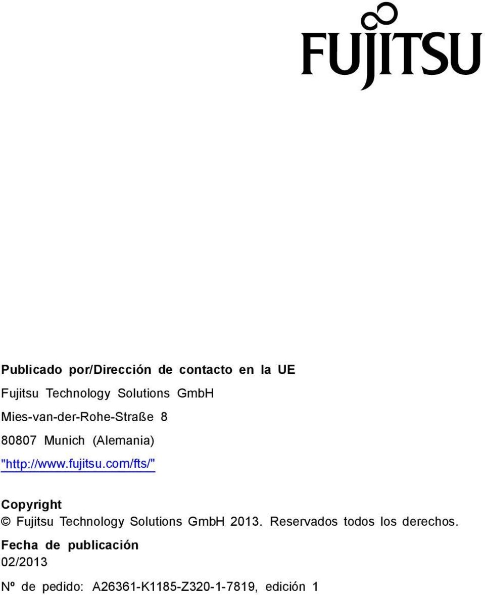 "com/fts/"" Copyright Fujitsu Technology Solutions GmbH 03."