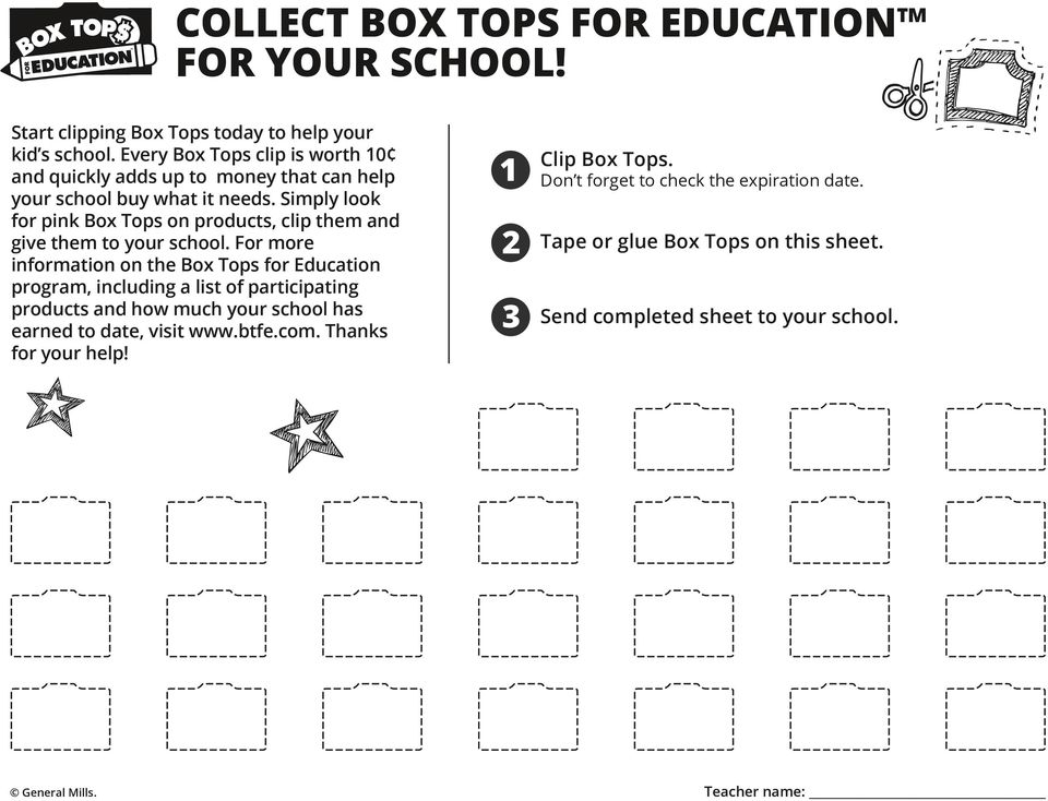 Simply look for pink Box Tops on products, clip them and give them to your school.