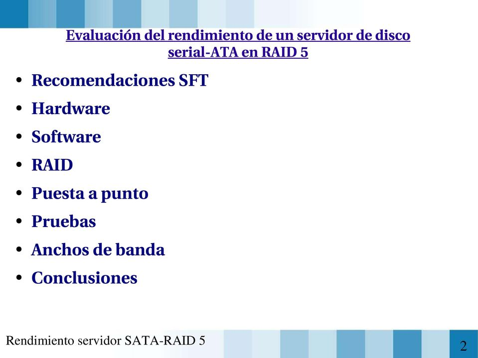 Recomendaciones SFT Hardware Software