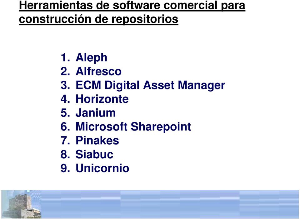 Alfresco 3. ECM Digital Asset Manager 4.