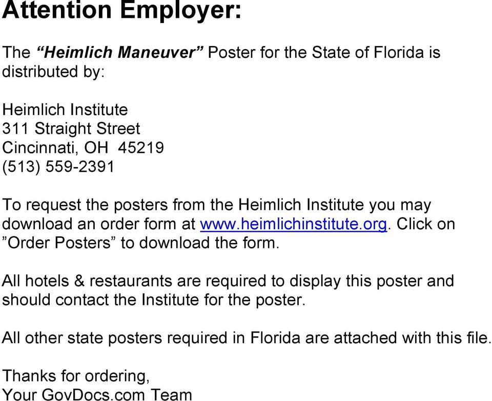 heimlichinstitute.org. Click on Order Posters to download the form.