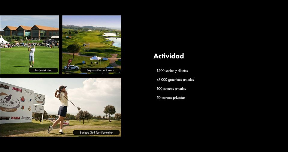 000 greenfees anuales 100 eventos