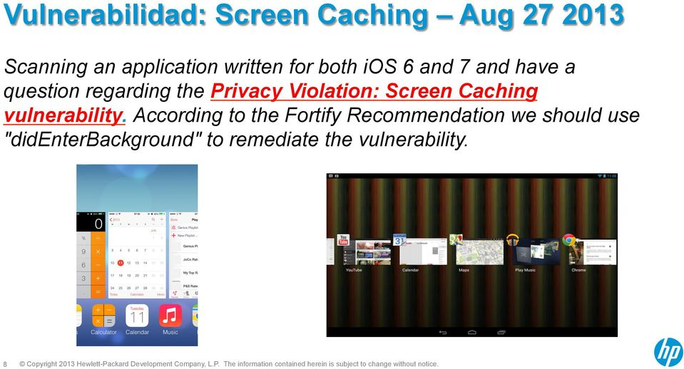 Violation: Screen Caching vulnerability.