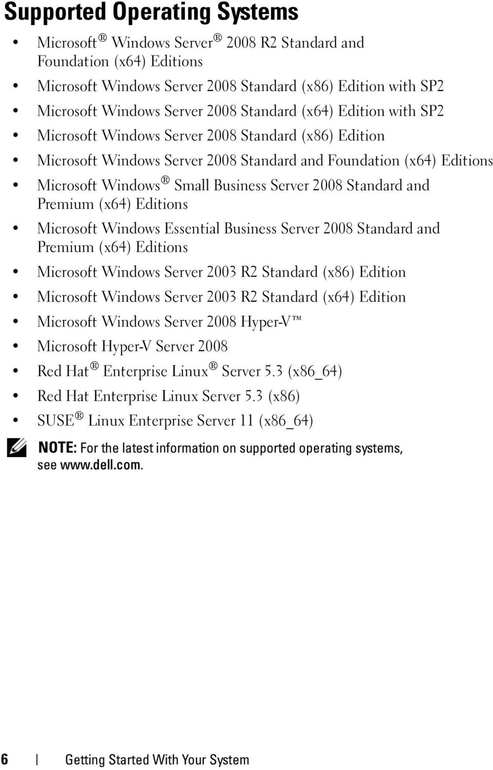 Standard and Premium (x64) Editions Microsoft Windows Essential Business Server 2008 Standard and Premium (x64) Editions Microsoft Windows Server 2003 R2 Standard (x86) Edition Microsoft Windows