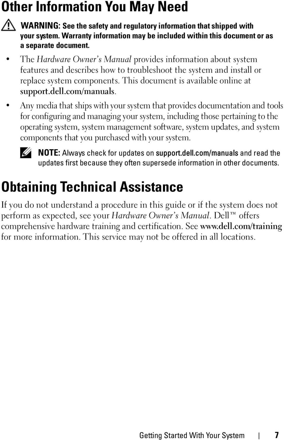 This document is available online at support.dell.com/manuals.