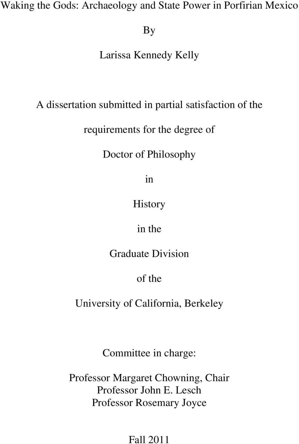 Philosophy in History in the Graduate Division of the University of California, Berkeley