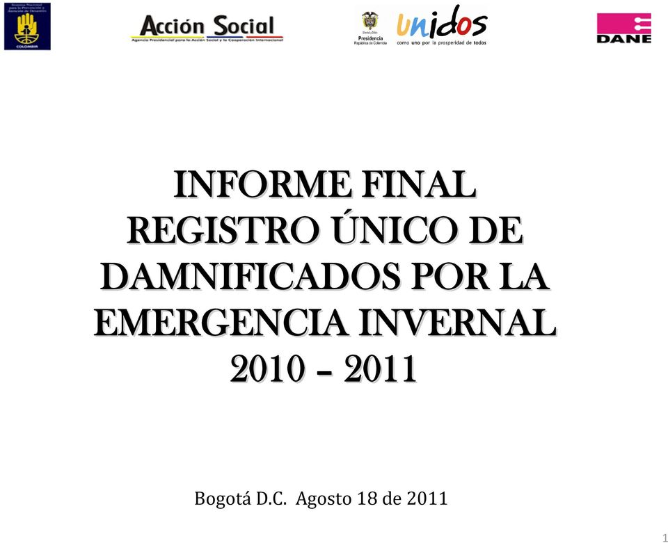EMERGENCIA INVERNAL 2010