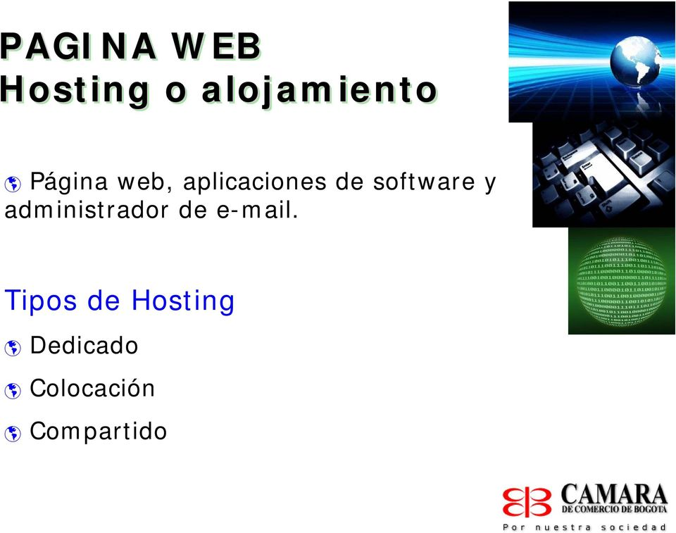 software y administrador de e-mail.