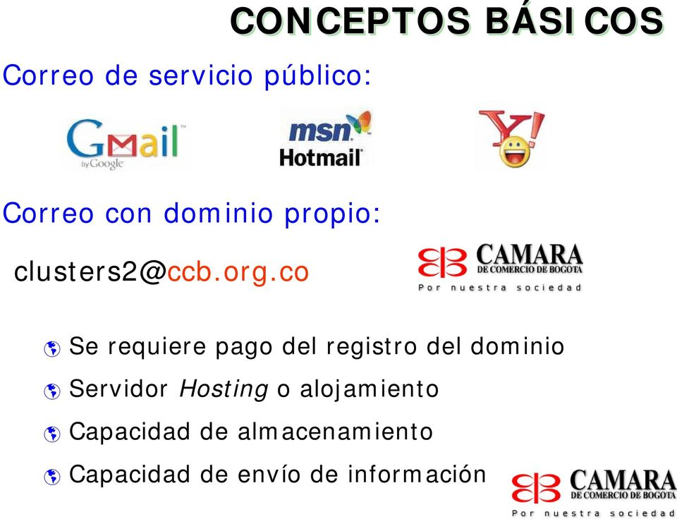 co Se requiere pago del registro del dominio Servidor