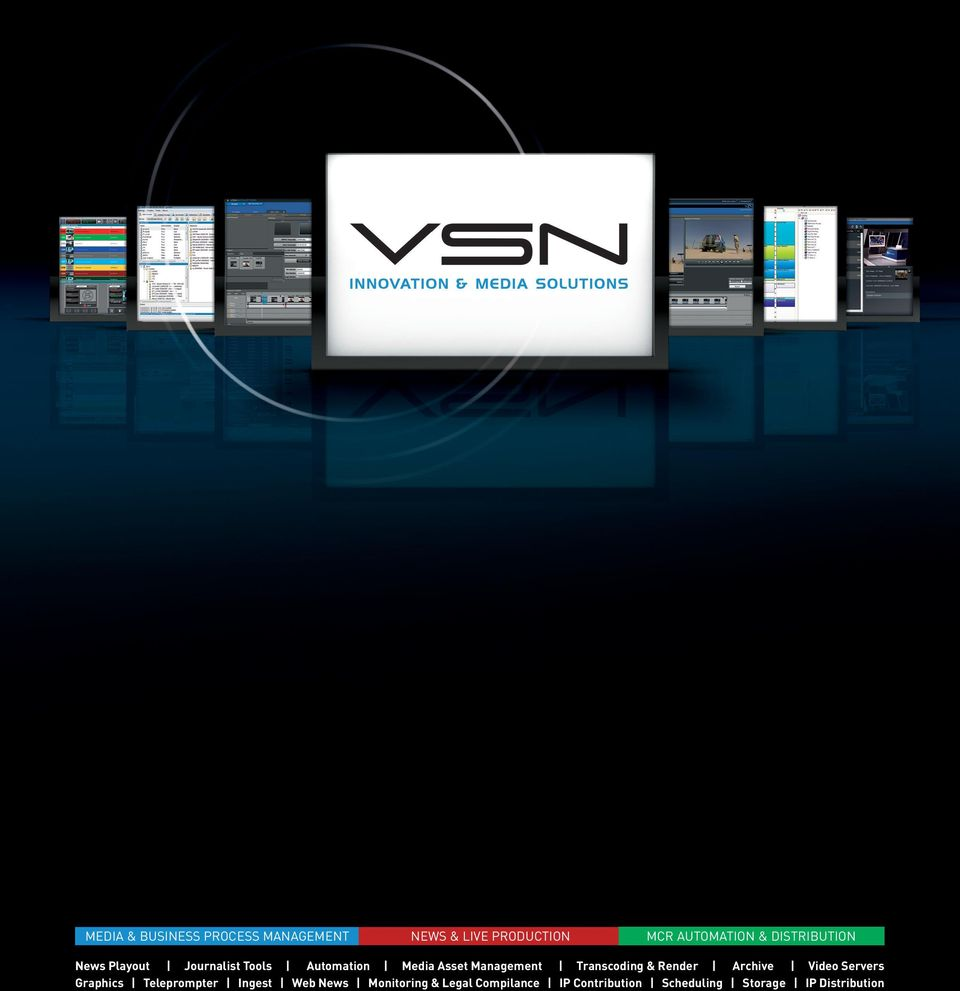 Transcoding & Render Archive Video Servers Graphics Teleprompter Ingest Web