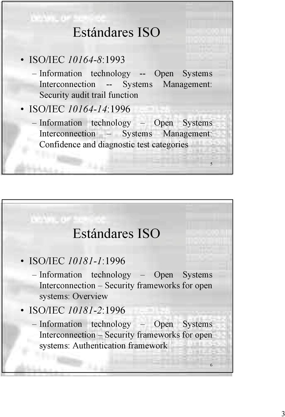 10164-14:1996 Interconnection Systems Management: Confidence and diagnostic test