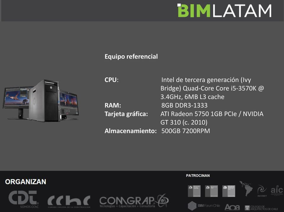 generación (Ivy Bridge) Quad-Core Core i5-3570k @ 3.