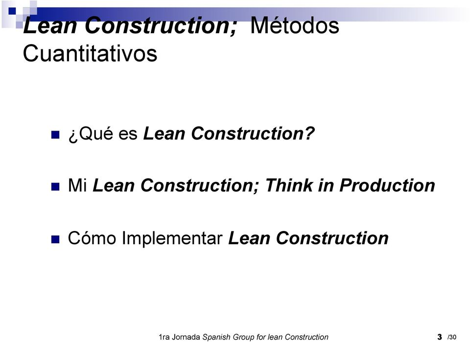 Production Cómo Implementar Lean