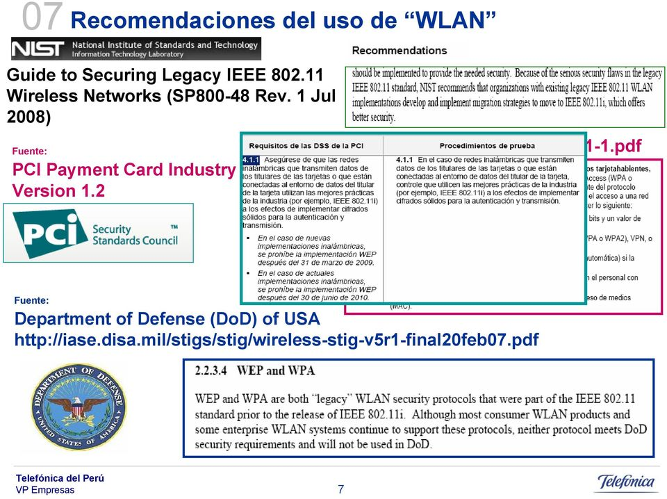 1 Jul 2008) Fuente: PCI Payment Card Industry Version 1.