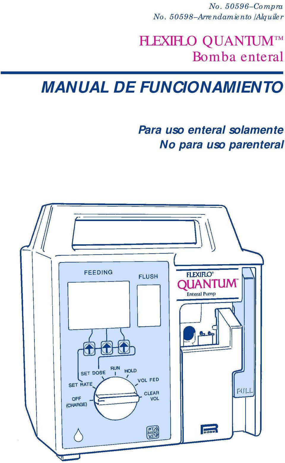 QUANTUM Bomba enteral MANUAL DE