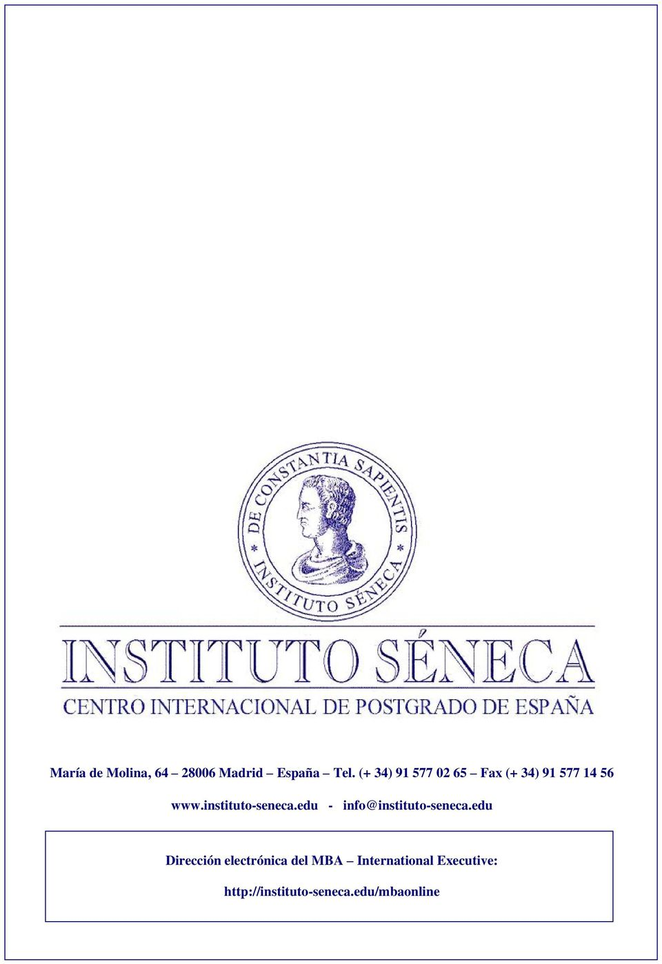 instituto-seneca.edu - info@instituto-seneca.