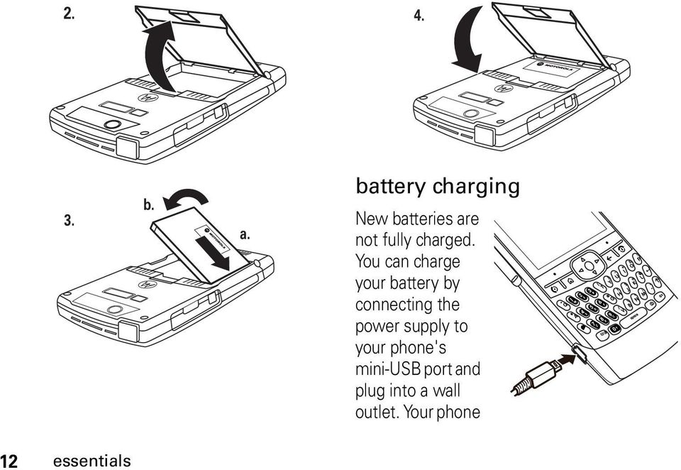 You can charge your battery by connecting the power