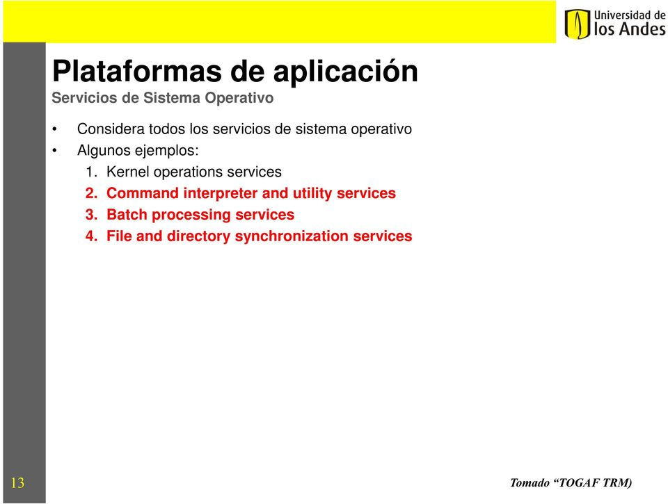 Kernel operations services 2.
