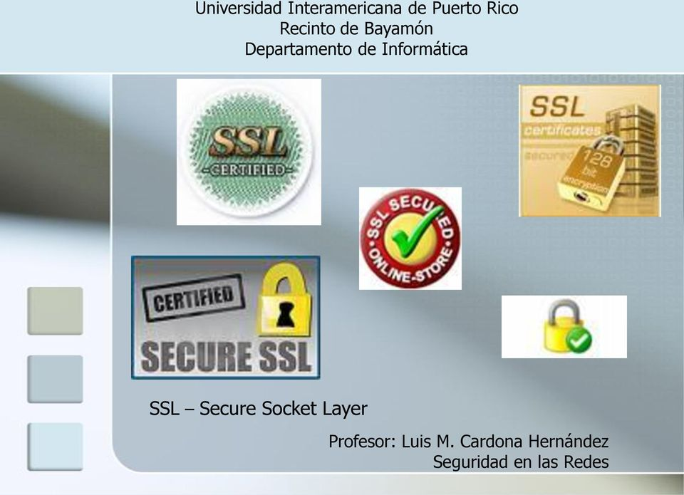 Informática SSL Secure Socket Layer
