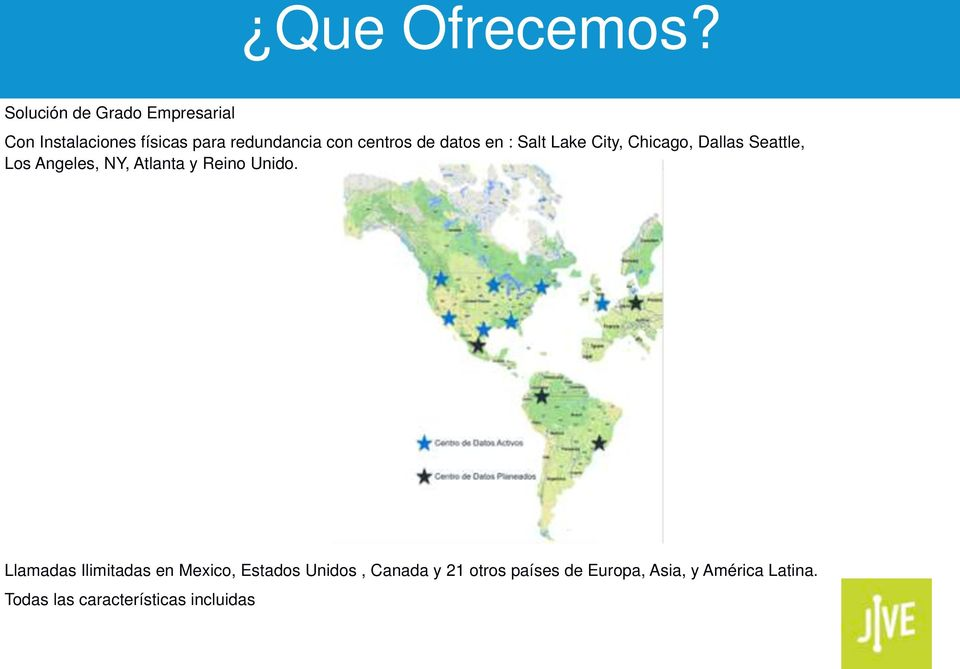 de datos en : Salt Lake City, Chicago, Dallas Seattle, Los Angeles, NY, Atlanta y