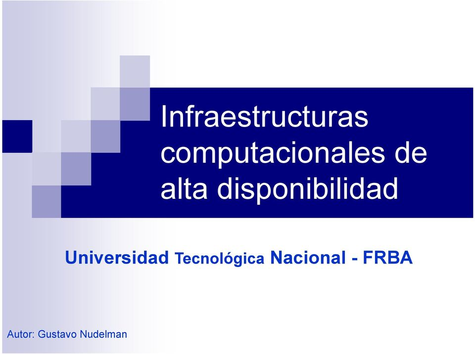 disponibilidad Universidad