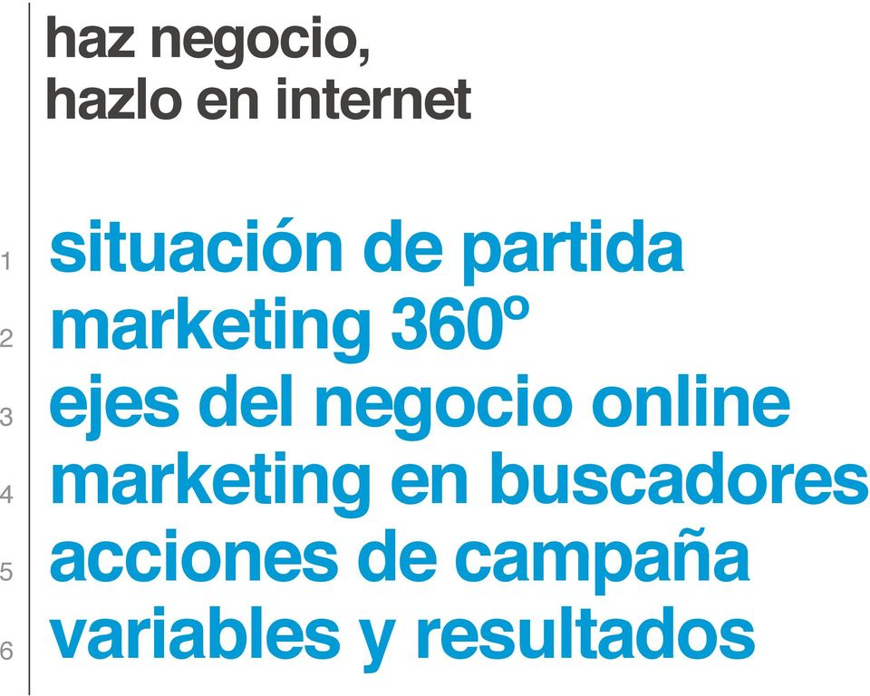 del negocio online marketing en buscadores