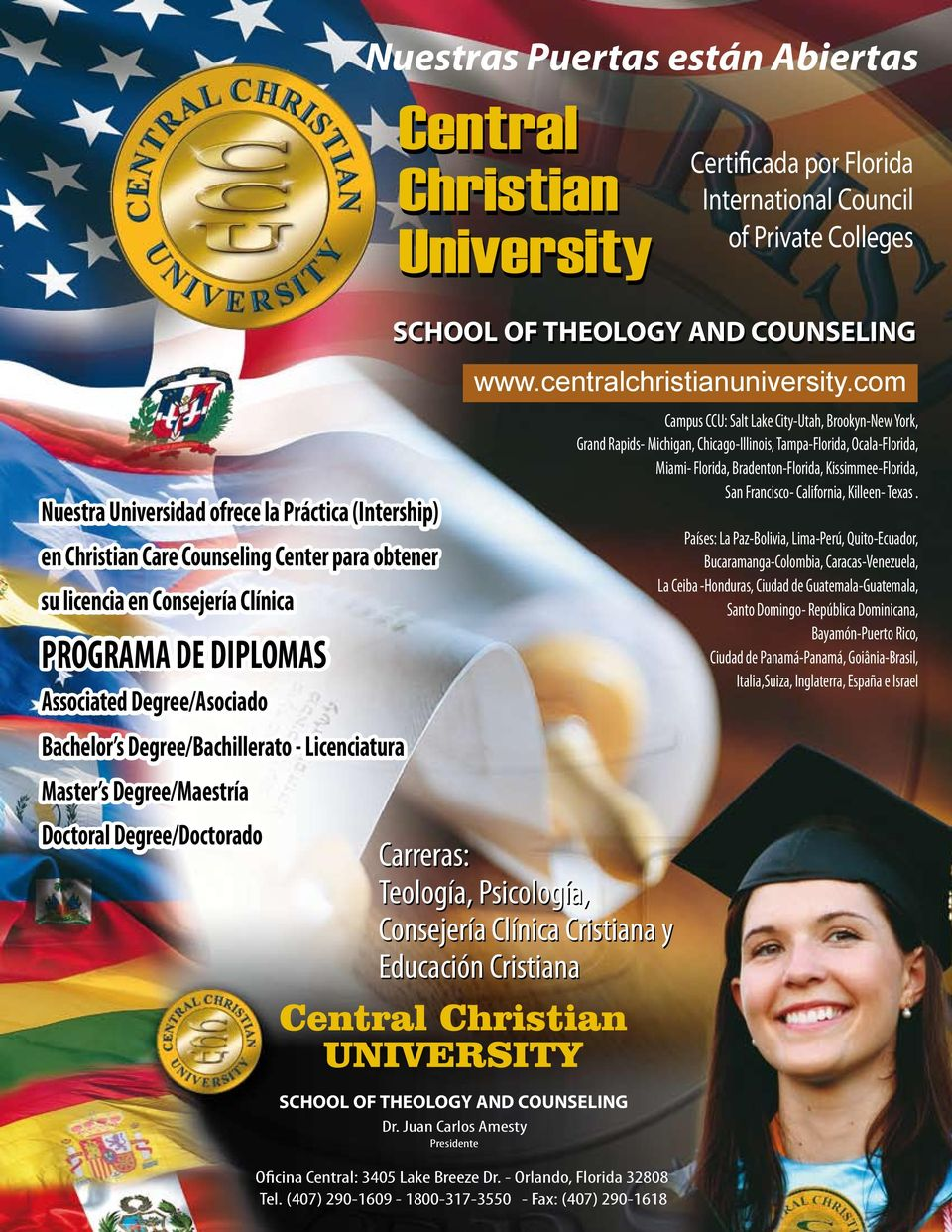 AND COUNSELING www.centralchristianuniversity.