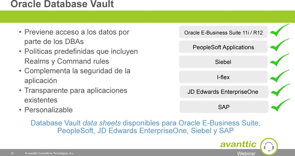 Personalizable Oracle E-Business Suite 11i / R12 PeopleSoft Applications Siebel I-flex JD Edwards EnterpriseOne