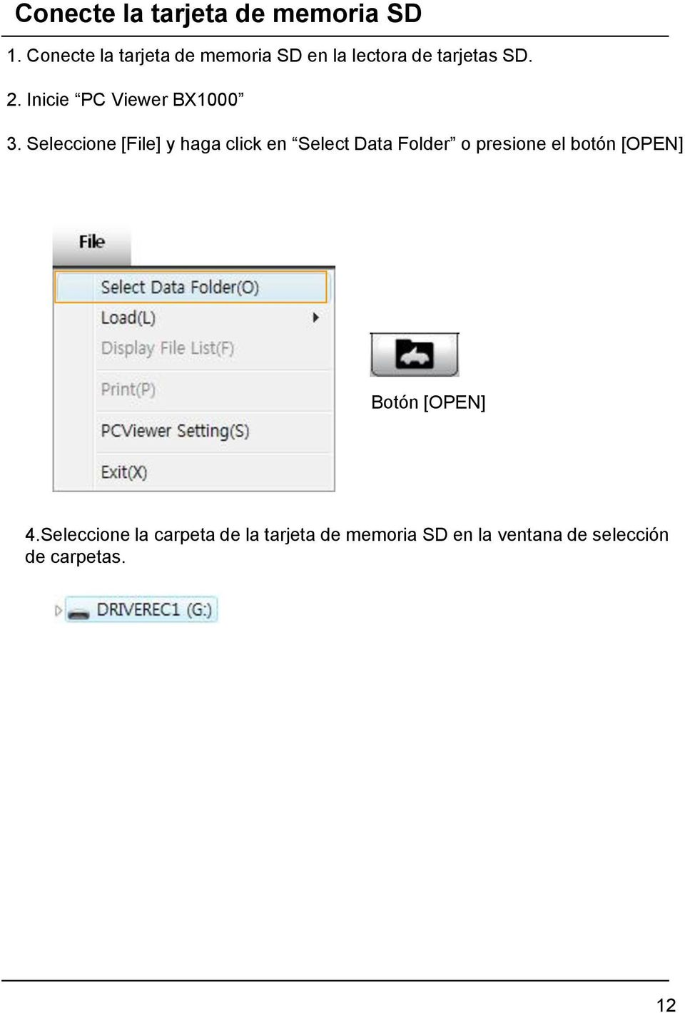 Inicie PC Viewer BX1000 3.