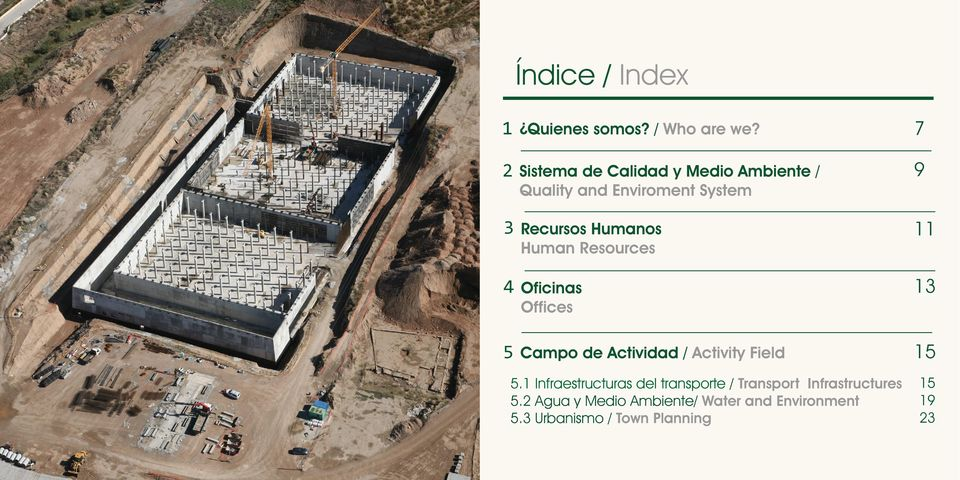 11 Human Resources 4 13 Oficinas Offices 5 Campo de Actividad / Activity Field 15 5.